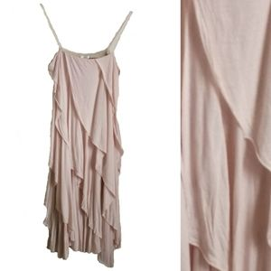 Filippa K Layered Blush Dress, size Medium